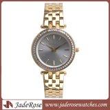 熱い販売の防水ステンレス鋼の水晶腕時計、女性のアナログ時計