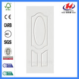 Piel blanca de madera laminada revestida de la puerta (JHK-003)