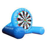 Juego inflable Chsp572 del dardo del fútbol del Velcro del juego de mesa azul del dardo