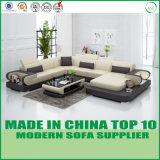 Домашняя современный вид в разрезе Custom кожаный диван в гостиной