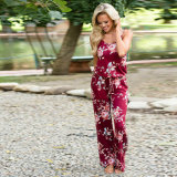 Plus Size Casual flojos Cami Beach Jumpsuit estampados florales
