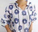 T-shirt doux en gros de dames de collier de poupée de mode