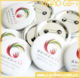 昇進のギフト(YB-SM-02)のための印刷されたロゴの錫のバッジかボタンのバッジ