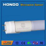 주차장, 복도, 지하실, 층계를 위한 마이크로파 운동 측정기 T8 LED 관에서 건축되는 높은 감도 광각