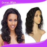 아름다움 14inch 바디 파 레이스 정면 숙녀를 위한 브라질 머리 가발