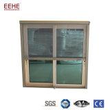 Aluminiumrahmen-Doppelt-schiebendes Glasfenster mit Bildschirm