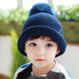 Шерсть связанная Tami Faux девушок мальчиков малышей детей Unisex POM POM греет шлем Beanie Skullies крышек зимы (HW609)