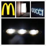 Signage 또는 보장 3 년을%s 가진 분명히된 표시 또는 채널 빛 또는 금속 광고를 위한 렌즈를 가진 IP65 3LEDs SMD2835 LED 모듈 편지