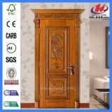 Diseños de la puerta principal en la puerta de madera de madera sólida de la teca