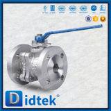 Vávula de bola suave de dos piezas funcionada palanca del lacre de Didtek