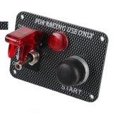 12V гоночных автомобилей панель выключателя зажигания Кнопка запуска двигателя загорается красный индикатор переключения
