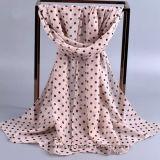 Les points en gros de voile de polyester ont estampé Madame Scarf (HQ04)