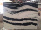 Panda de losa de mármol blanco de la pared y suelo