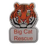 Insigne de Pin de revers de logo de tigre d'impression en métal avec de l'époxy