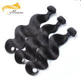 Черный необработанные Virgin Малайзии органа кривой комплекты волос