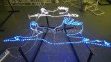 飛ぶ鳥のロープのライトおよび鉄フレームが付いている第2モチーフライト