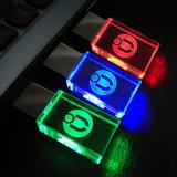 Movimentação de cristal 4GB 8GB 16GB 32GB luz vermelha/azul/verde de Pendrive da pena da movimentação do flash do USB do diodo emissor de luz
