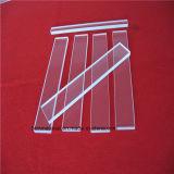 La mejor calidad de sílice UV transparente diapositiva de cristal de cuarzo.
