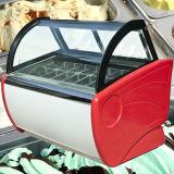 Congelatore della visualizzazione del gelato dell'acciaio inossidabile