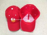 Вышивки логоса продукции фабрики шлем бейсбола Twill хлопка изготовленный на заказ красный