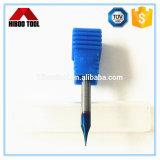 HRC65 Nano azul de carburo recubierto de Mirco pequeña herramienta corte carburo
