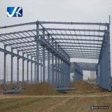 Costruzioni prefabbricate del capannone del gruppo di lavoro del magazzino della struttura d'acciaio dell'ampia luce