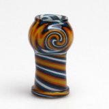 Bóveda de cristal de los remolinos coloridos artísticos redondos para los accesorios del tabaco de tubos que fuman