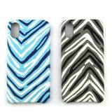 Caixa elegante do telefone de pilha do teste padrão da Zebra-Listra para o iPhone X