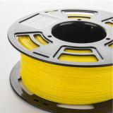 bobina 1kg del filamento 1.75mm della stampante di PLA 3D 2.2 libbre di esattezza dimensionale +/- 0.05 millimetri (colore giallo)