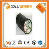 Cable de transmisión acorazado de aluminio de la envoltura del PVC del alambre de acero del aislante del PVC de la base