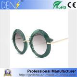 Mais novo espelho polarizado óculos de sol óculos de plástico grande redondo