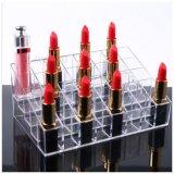 Venta caliente hecho a mano 24 Ranuras acrílico Organizador de la barra de labios