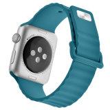 Venda de goma Iwatch del silicón de la alta calidad para la correa de reloj de Apple