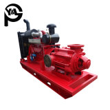 Центробежный водяной насос с приводом от дизельного двигателя для обезвоживания