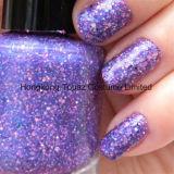 柔らかいプラム六角形シートの釘の芸術ライト装飾のPailletteの紫色及びピンクのきらめき(例えば11)