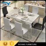 Cena de los muebles que cenan el vector de cristal determinado del acero inoxidable del vector de cena