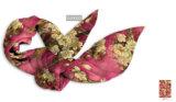 一義的な2つのカラーは絹のスカーフをカスタム設計する