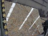 Oro Cyrstal baldosas pulidas losas de granito&&encimera
