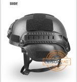 夜間視界の土台システムNij Iiiaが付いている弾道ヘルメット。 44