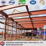 Edificio de marco de acero de la subida de Hige para el taller con el panel de emparedado