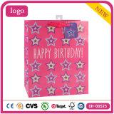 Zakken van het Document van de Gift van de Supermarkt van het Stuk speelgoed van de Schoenen van de Kleding van de Ster van de verjaardag de Roze