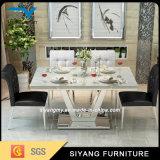 食堂の家具のステンレス鋼表のダイニングテーブル