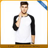 T-shirt de base-ball de chemise du Raglan 3/4 des hommes en gros