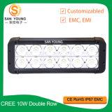 Barre bon marché de l'éclairage LED 120W la plus lumineuse du CREE DEL guide optique de rangée de double de barre d'éclairage LED de vente en gros de 12 pouces