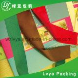 Personifiziertes Drucken-Satin-Silk Baumwolltuchzoll gedrucktes Grosgrain-Farbband mit Firmenzeichen