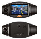 レコーダーを運転するGPSを感じるHD二重レンズの夜間視界の重力