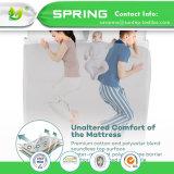 洗濯できる低刺激性の防水マットレスの保護装置の綿のベッド・カバーのビニール自由な女王