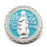 승진 싼 주문 금속 도전 종교적인 기념품 금에 의하여 도금되는 동전