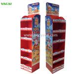 Pop Visualización de cartón corrugado de cartón de pie, fabricante de la pantalla de estante de Chocolate