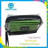 Le tissu imperméable à l'eau transparent de pistes de PVC place le sac cosmétique